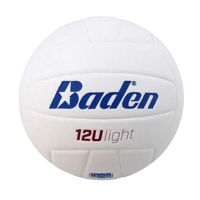 VX450L-02 Baden Soft Microfiber Cover Official Size Volleyball for Players 12&U, White