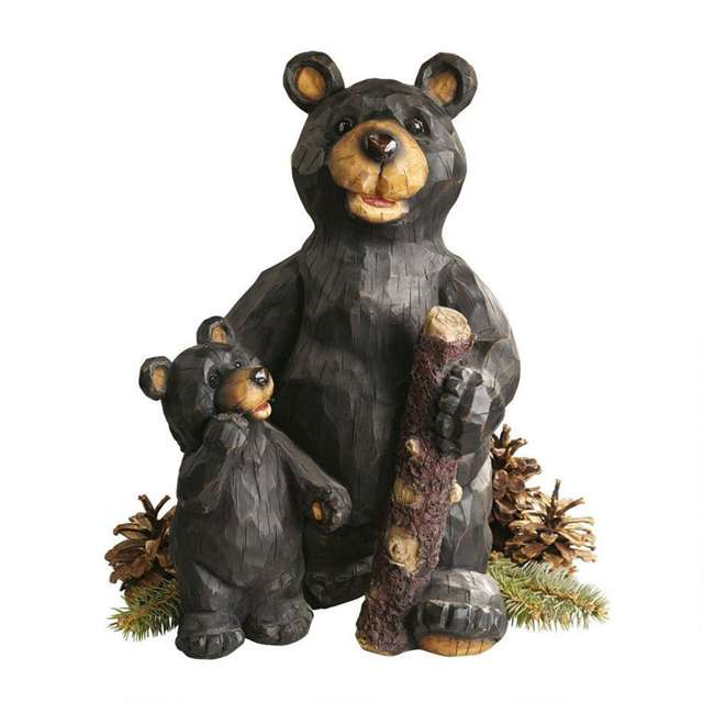 JE228500 Design Toscano Stone Black Forest Bear Pair Sculpture (2 Pack) 1