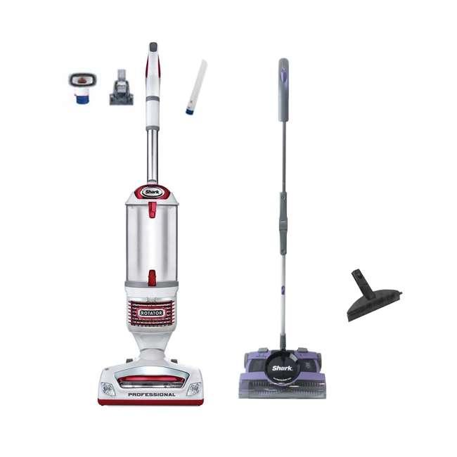 Shark Rotator Pro Lift-Away Vacuum + Cordless Sweeper (Certified Refurbished) : NV500RDREF-RB + V2950-RB-LAVANDER