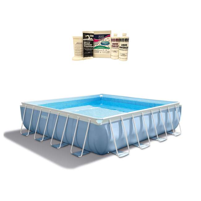 "26765EH + QLC-57610 Intex 16' x 48"" Prism Frame Pool w/ Pump & Winterizing Kit"