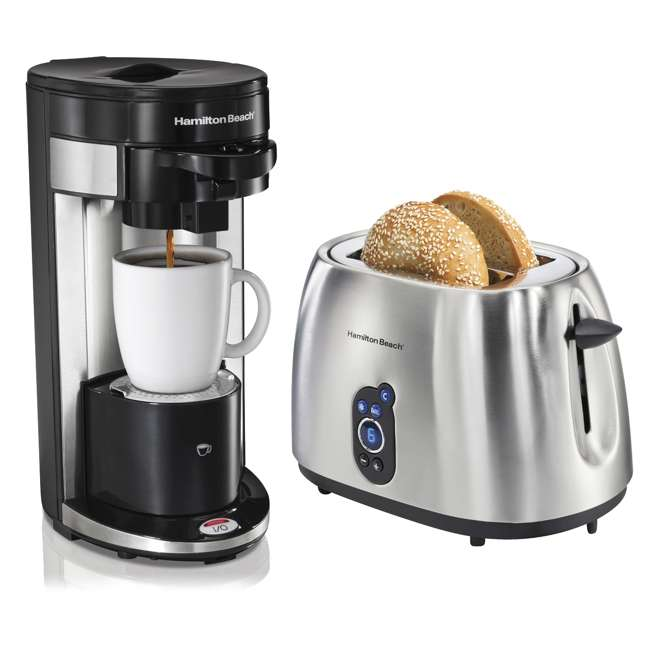 Coffee Maker On Clearance : Hamilton Beach FlexBrew Single-Serve Coffee Maker + 2-Slice Digital Toaster : 49999A + 22702
