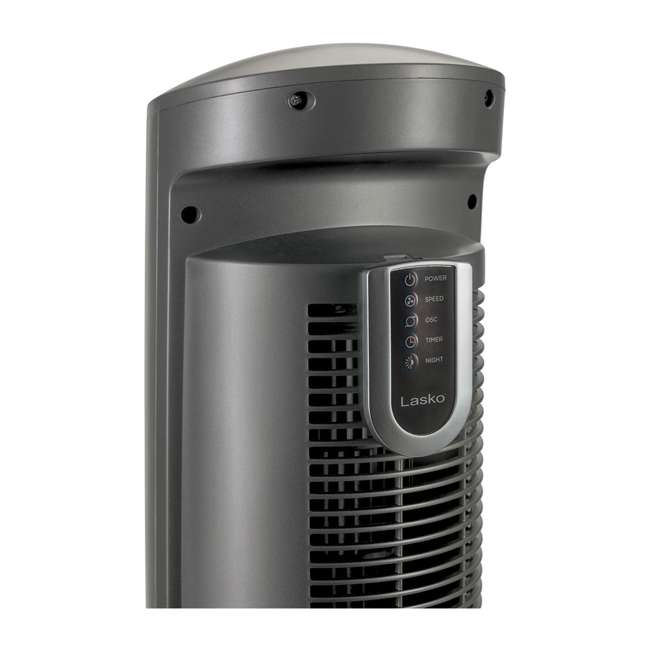 LKO-T42951-TN Lasko Wind Curve Nighttime Setting Tower Fan with Remote Control, Silver(2 Pack) 4