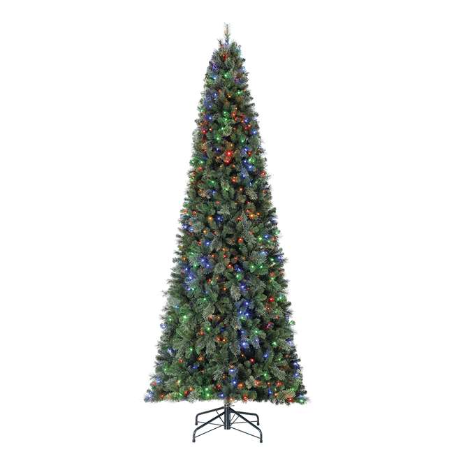 TGC0M3W92D00-U-A Home Heritage 12' Cascade PVC Christmas Tree & Changing LED Lights (Open Box) 1
