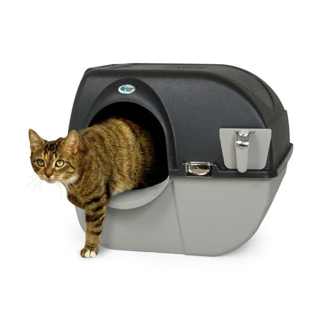 EL-RA20-1 Omega Paw Roll N Clean Self Cleaning Litter Box, Large  1