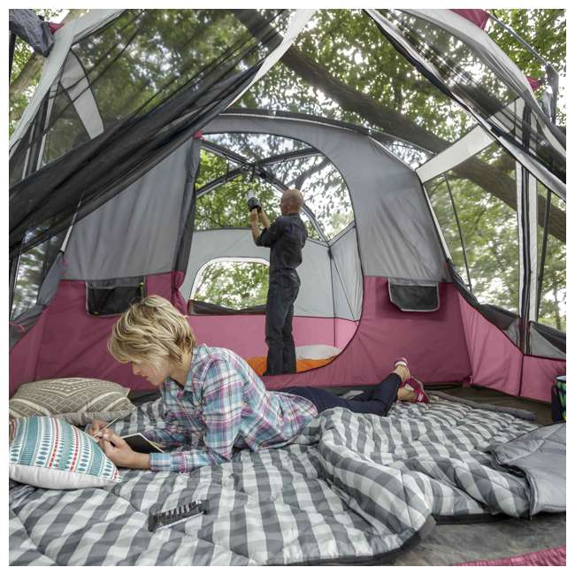 CORE-40072 CORE 40072 11-Person Family Camping Cabin Tent with Screen Room 4