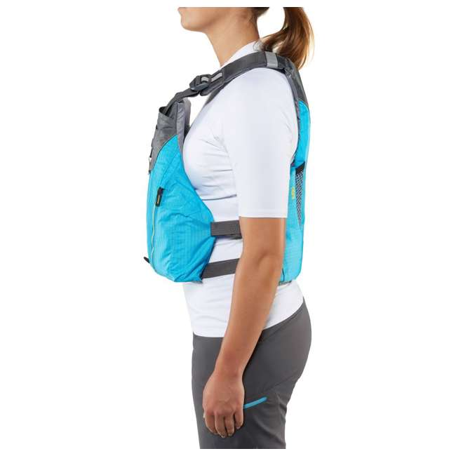 40073.01.103 NRS Womens Nora Type III Fishing Life Jacket Vest PFD w/ Pockets, Large/XL, Teal 5