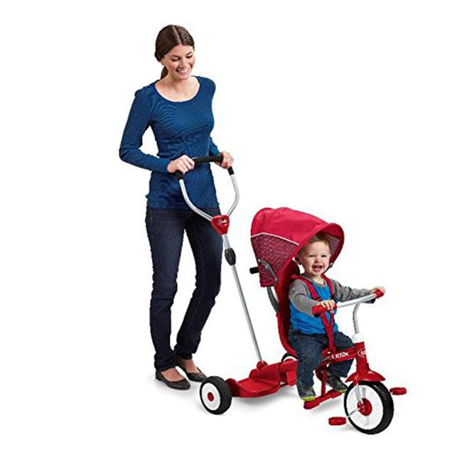 499 Radio Flyer 499 Kids' Toddlers Ride and Stand Stroll 'N Trike, Red 4