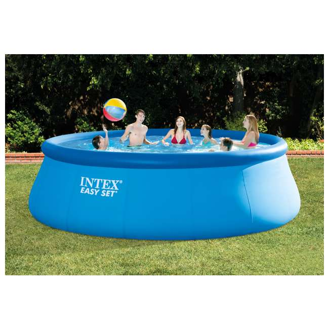 "26167EH Intex 15' x 48"" Inflatable Easy Set Above Ground Swimming Pool 2"