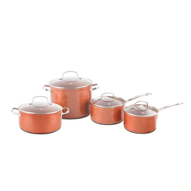 NW-31422-OB NuWave Forged Non-Stick 10-Piece Stainless Steel Cookware Set (Open Box) 1