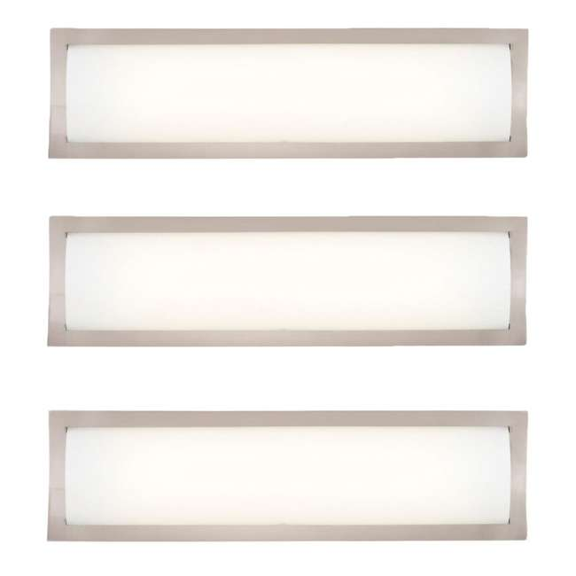 3 x PLC-F353036U Philips Forecast 24W 277V Rene Bathroom Wall Light, Satin Nickel Finish (3 Pack)