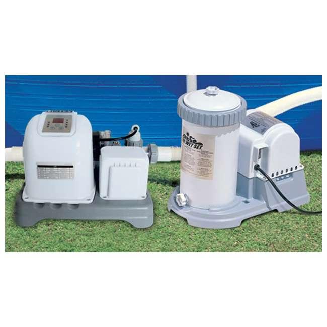 intex 1500 gph filter pump krystal clear saltwater system pool chlorinator 56635e 54601e. Black Bedroom Furniture Sets. Home Design Ideas