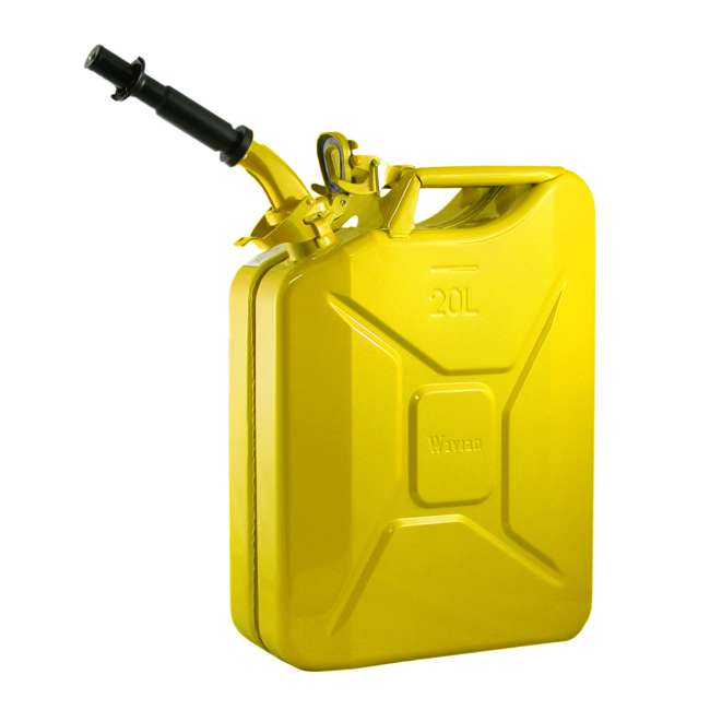 3011-WAV-OB Wavian 3011 5.3 Gallon 20L Authentic Fuel Can and Spout, Yellow(Open Box)