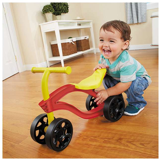 638077M Little Tikes Scooteroo 4 Wheel Toddler Indoor Outdoor Ride On Toy Bike, Red