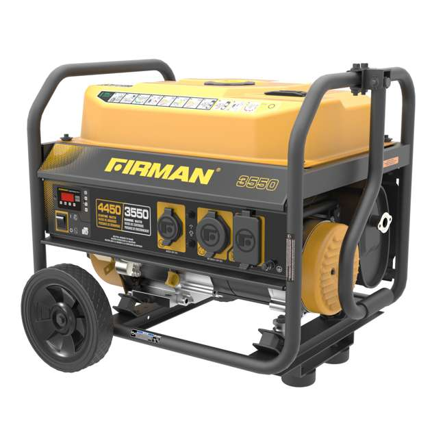 P03602 Firman P03602 3650W Wheeled Electric Recoil Start Inverter Generator 1