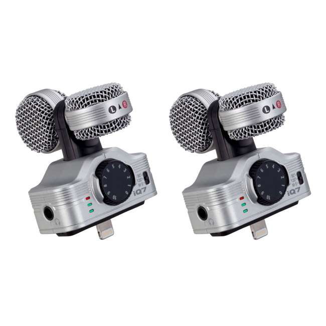 ZIQ7 Zoom iQ7  Stereo Lightning Connector iOS  Recorder (2 Pack)