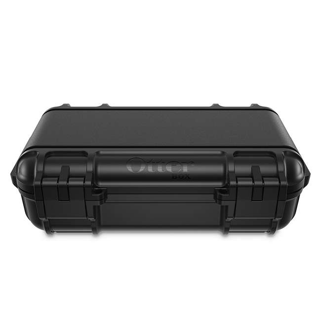77-54442 OtterBox 3250 Series 0.9 Liter Small Lockable Waterproof Storage Drybox, Black 3