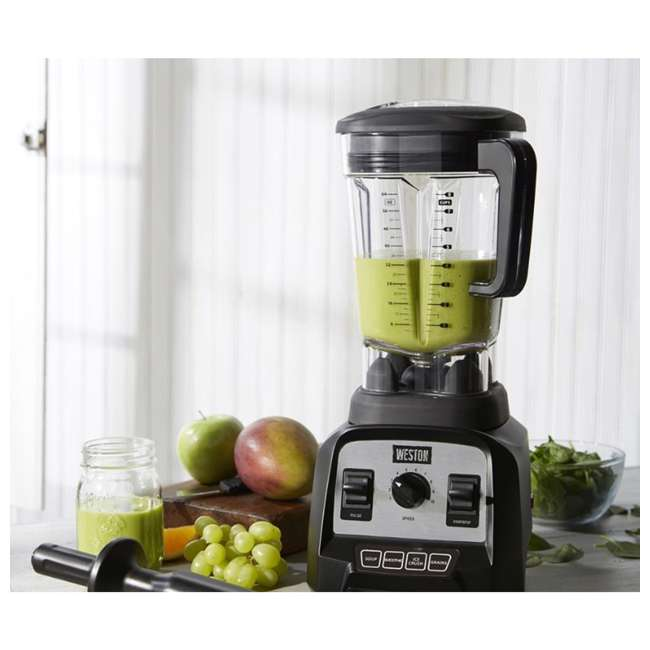 58914 Weston 58914 Professional 64 Ounce Countertop Blender w/ Recipe Book, Black 4