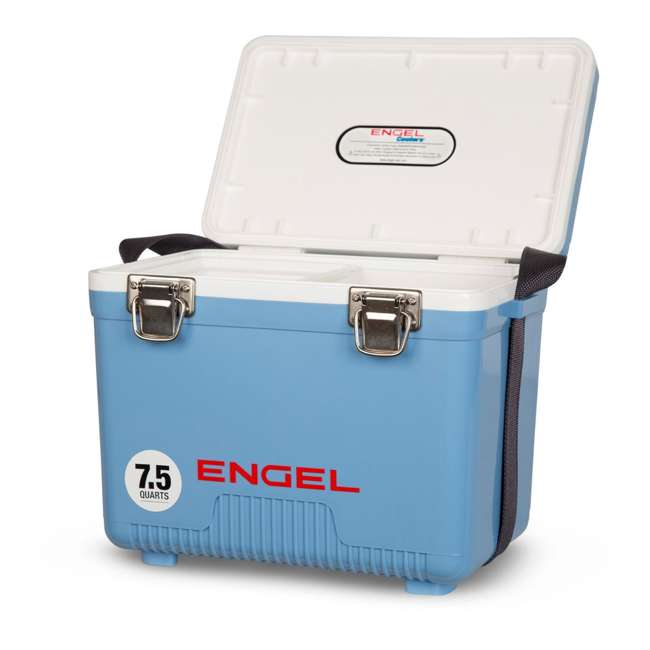 UC7B Engel 7.5-Quart EVA Gasket Seal Ice and DryBox Cooler with Carry Handles, Blue 1