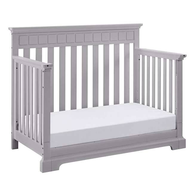 04565-50F + EM642-PHN1 Thomasville Kids Willow Crib, Pebble Gray & Sealy Posturepedic Mattress  6