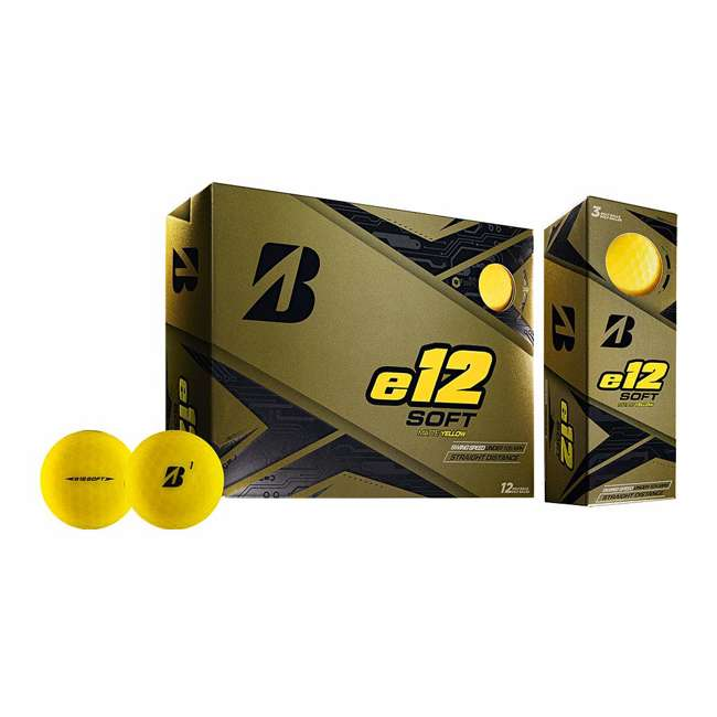 9CYX6D Bridgestone Golf e12 Soft 3-Piece Golf Balls, Yellow
