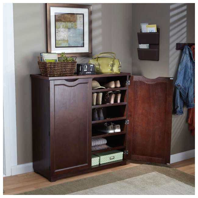 BOX0021721800 Merry Products 6-Tier Wooden Shoe and Storage Dresser 1