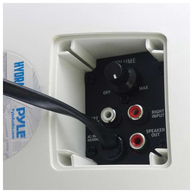 PDWR54BTW Pyle PDWR54BTW Bluetooth 600W Waterproof 5.25-Inch Powered Outdoor Speakers (Pair) 2