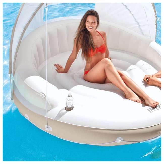 58292EP Intex Inflatable Canopy Island 78 x 59-Inch Lounge Raft 4