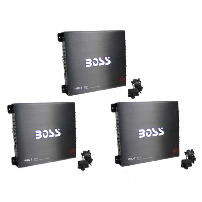 3 x R3004-Boss Boss Audio R3004 1200W 4 Channel Amplifier with Remote (3 Pack)