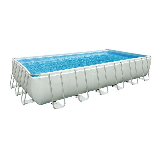 Intex 24 x 12 x 4 3 foot ultra frame rectangular pool set for Intex pool handler