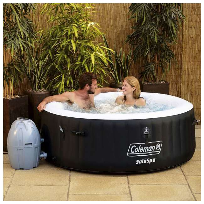 13804-BW Coleman SaluSpa Inflatable Hot Tub, Black  3