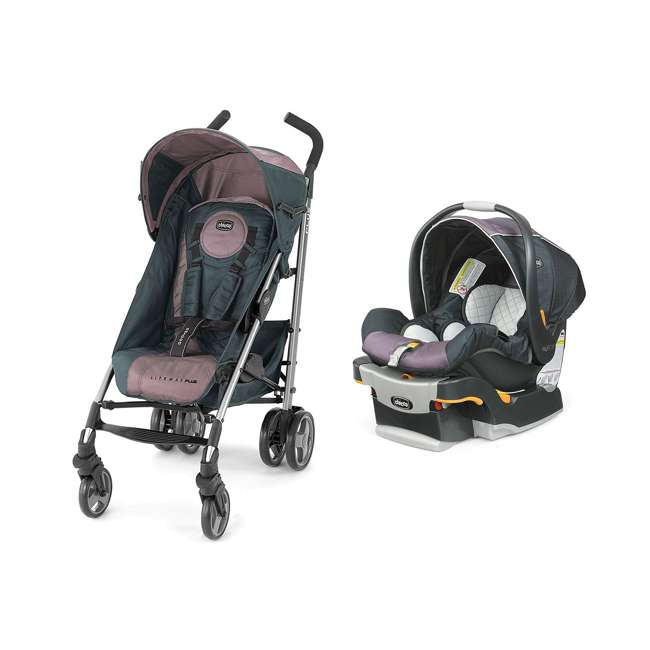 chicco liteway plus stroller keyfit 30 magic car seat travel system purple lyra chi. Black Bedroom Furniture Sets. Home Design Ideas