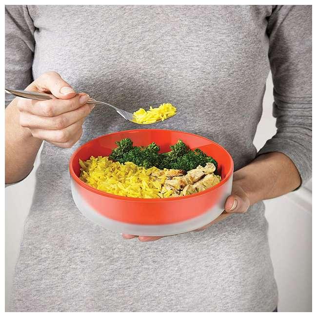 45010-JJ Joseph Joseph M Cuisine Cool Touch 3 Piece Microwave Cookware Bowl Set, Orange  2
