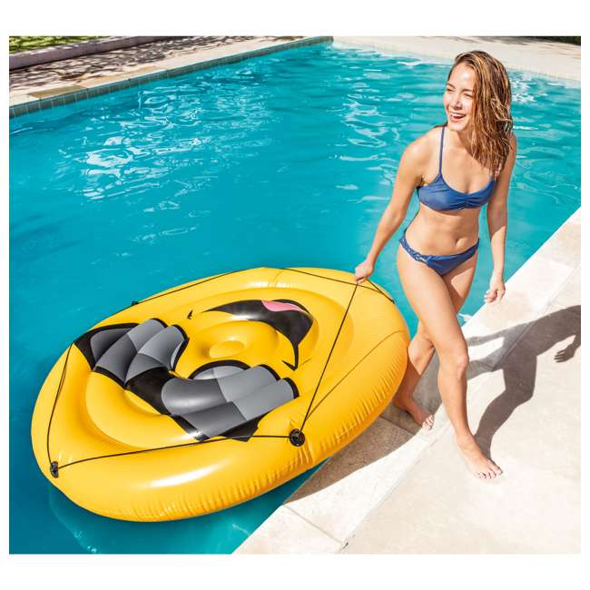 6 x 57254EP Intex Giant Inflatable Cool Guy Island Pool Float (6 Pack) 3