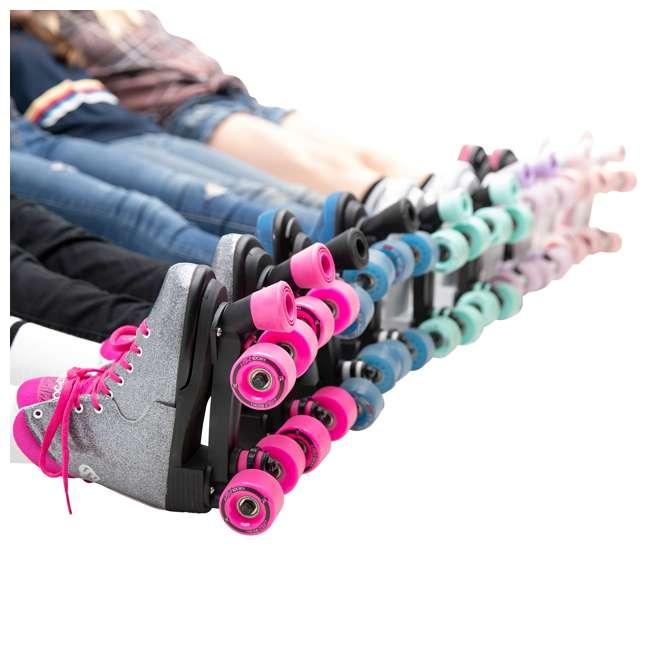168222 Circle Society Bling Sizzling Pink Kids Skates, Sizes 3 to 7 7