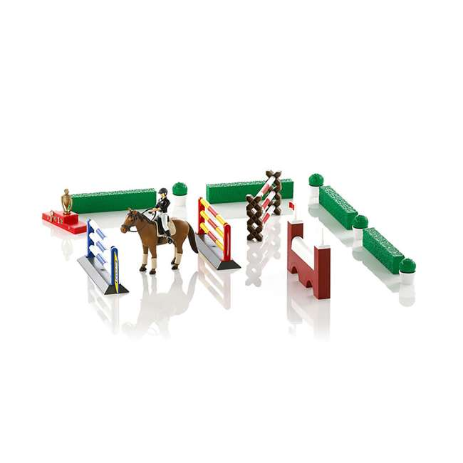 62530-BR Bruder Toys Show Jumping Obstacle Course with Rider and Horse
