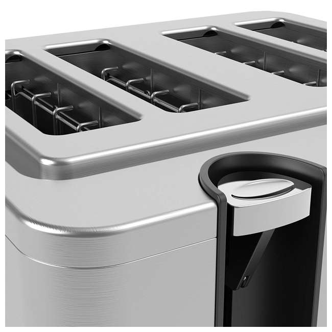 VRM010108N Vremi VRM010108N Retro Stainless Steel Countertop Wide Slot 4 Slice Toaster 5