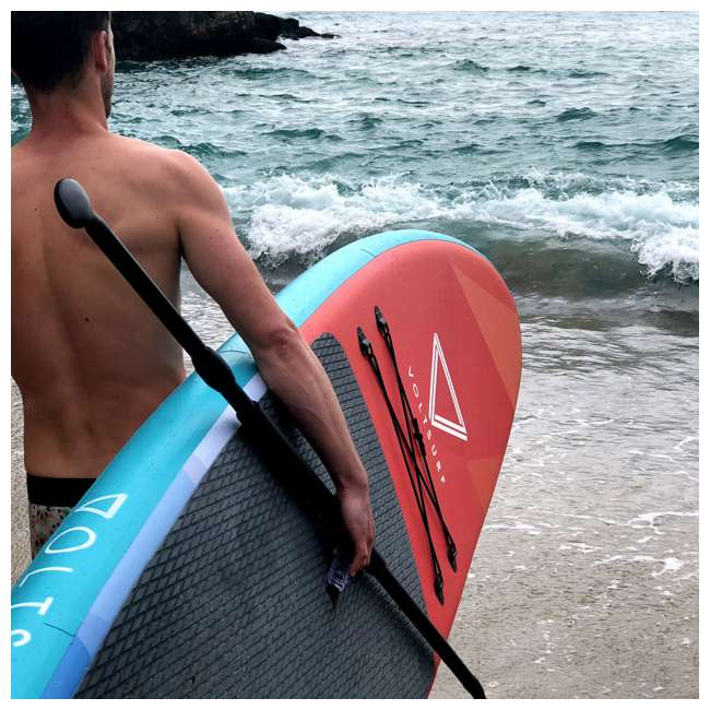 VS-iSUP-Turquoise-U-A VoltSurf 11 Ft Rover Inflatable SUP Stand Up Paddle Board Kit w/ Pump (Open Box) 3