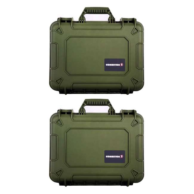 H075GNF8542AC1 Condition 1 14-Inch Medium Protective Carrying Case, Green (2 Pack)
