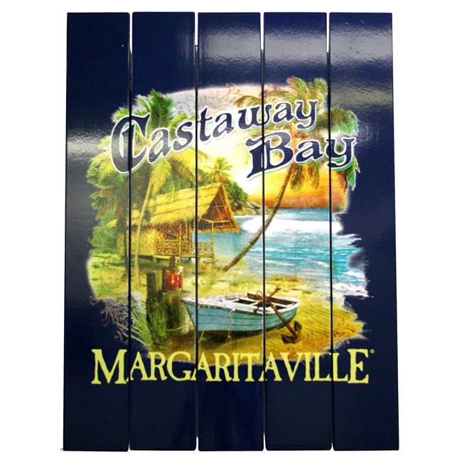 4 x RIOPSSR113-MV Margaritaville Outdoor Castaway Bay Beach Sign (4 Pack) 1