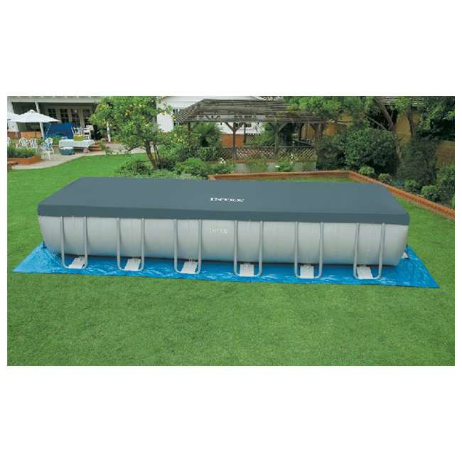Intex 24 39 X 12 39 X 52 Ultra Frame Rectangular Swimming Pool Set 28363eg 58821ep 2 X 58868ep