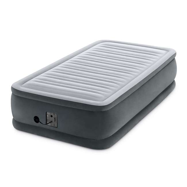 64411EP-U-A Intex Dura Beam Plus Series Elevated Airbed w/ Built in Pump, Twin (Open Box)