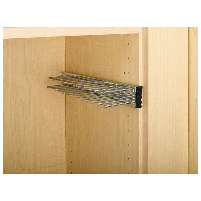 TRC-12CR Rev-A-Shelf TRC-12CR Chrome Tie Organizer Rack Side Mount for Closet (2 Pack) 2