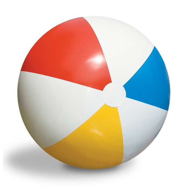 90036 Swimline Inflatable 36 Inch Classic Rainbow Beach Ball For Pool or Lake (Used)