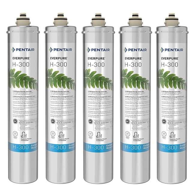 5 x EV927072 Pentair Everpure H-300 Water Filter Replacement Cartridge (5 Pack)
