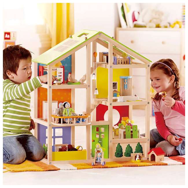 HAP-E3401 Hape All Season House Wooden Dollhouse with Furniture (2 Pack) 7