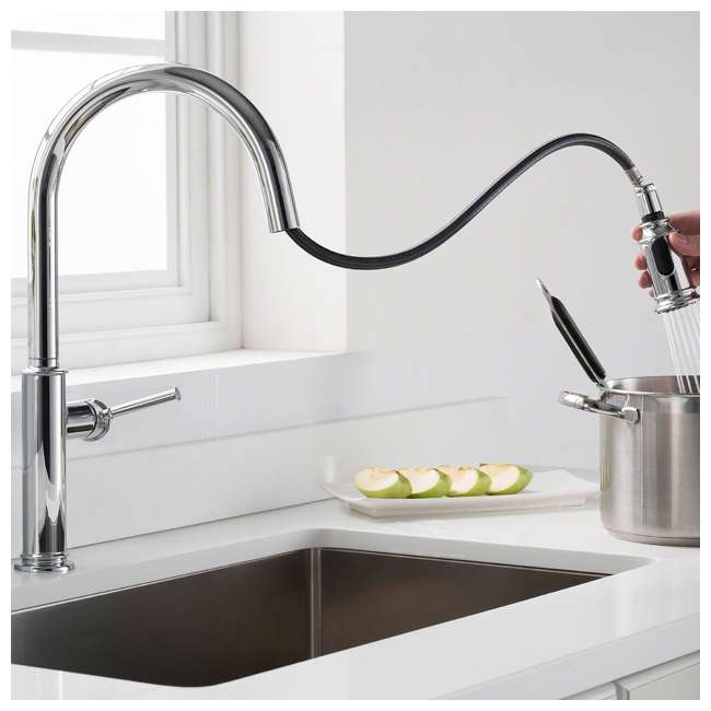 4 x KPF-1680SFS Kraus Sellette Pull-Down Lever Faucet, Stainless Steel (4 Pack) 4