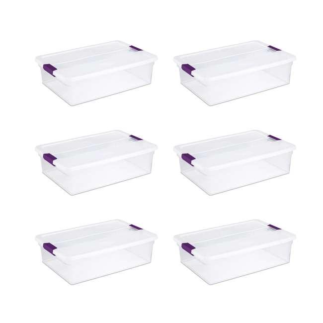 6 x 17551706 Sterilite 1751 6-Quart ClearView Latch Box Storage Tote (6 Pack)