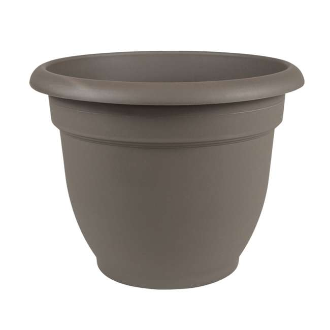 AP0860  Bloem AP0860 Ariana 8 Inch Self Watering Indoor & Outdoor Planter, Peppercorn  (2 Pack) 1