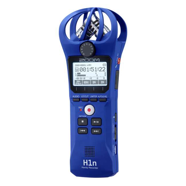 H1N-BLUE Zoom Handy Portable Wireless Digital Audio Recorder & Mike, Blue
