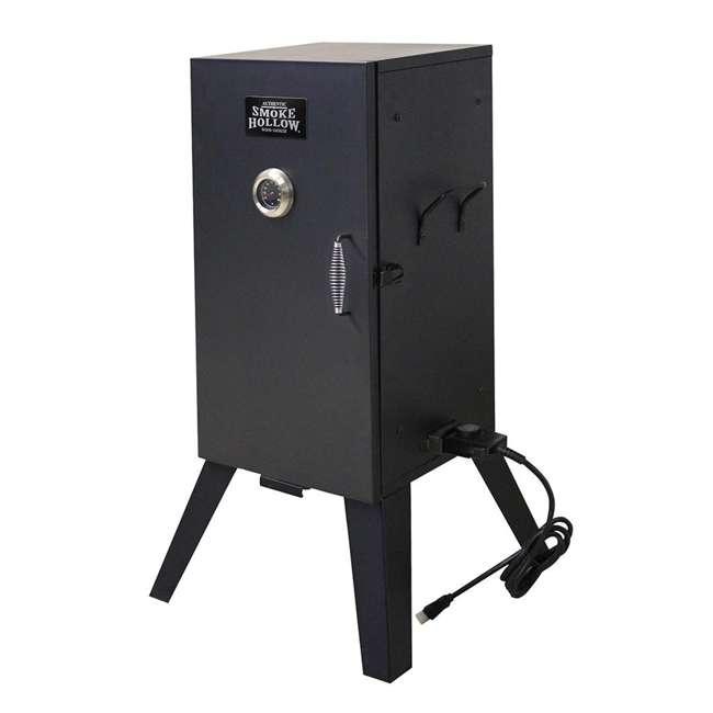 26142E Smoke Hollow 26142E 26 Inch Electric Smoker with Adjustable Temperature, Black